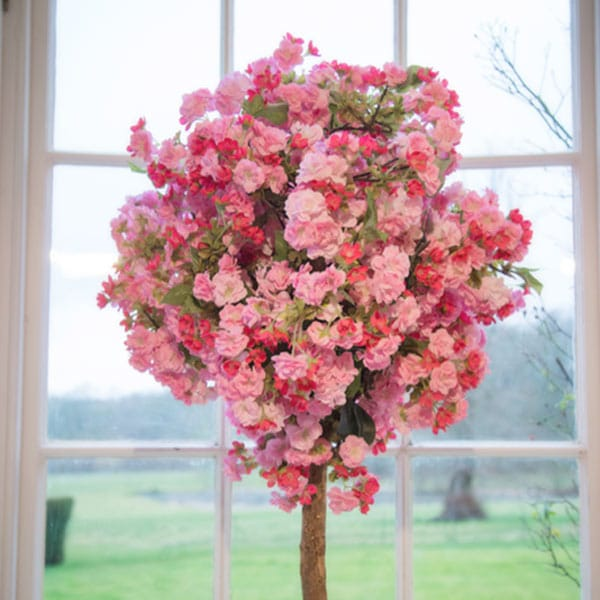 Pink Blossom Pom Tree available to hire