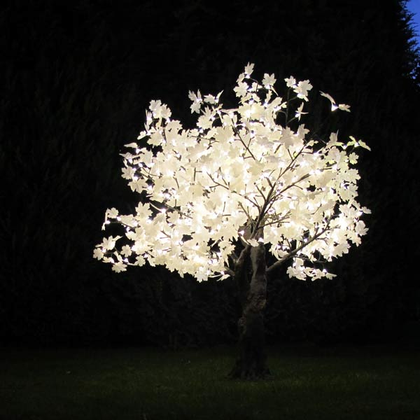 1.5m LED Maple tree with white leaves by Twilight Trees