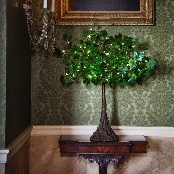 Mini LED maple tree with green leaves by Twilight Trees