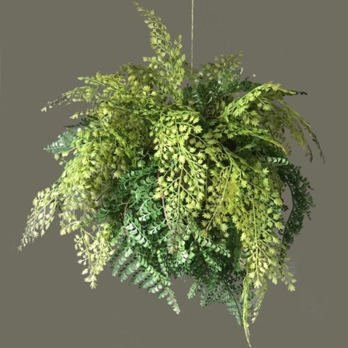 Small faux fern sphere to buy or hire from Twilight Living where you can bring Twilight Tree magic home. From artificial trees to our amazing biophilia design products. Click to find out more.