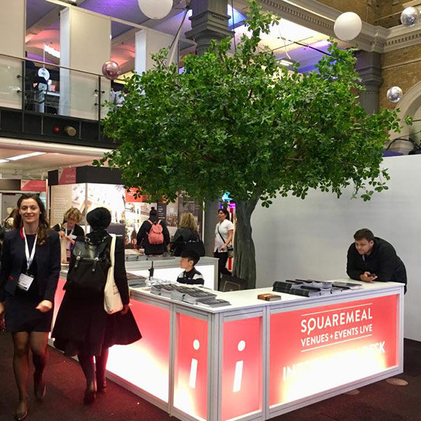 Hire faux green tree for corporate events