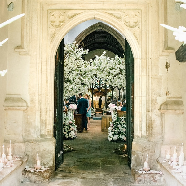 Hire white blossom trees for wedding ceremonies