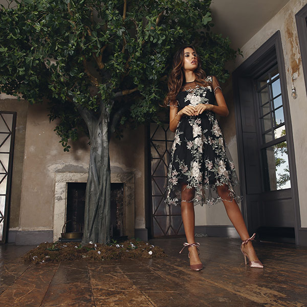 Hire large faux green trees for fashion shoots