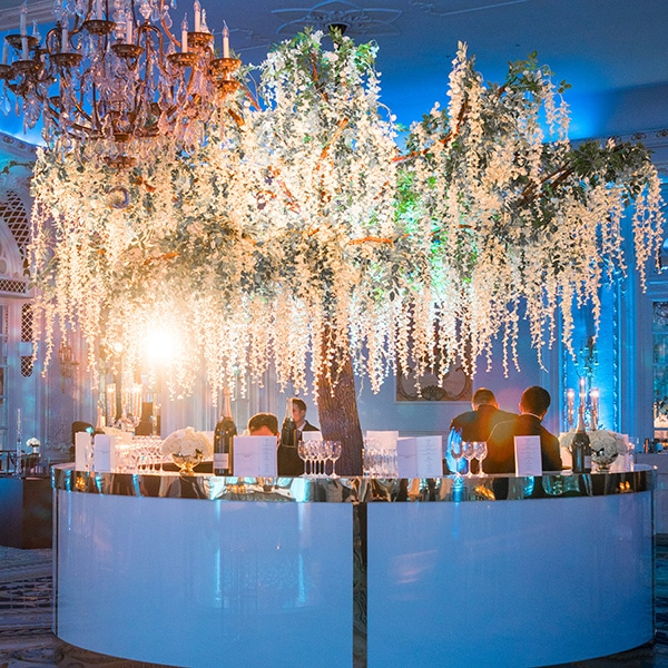 Hire wisteria trees for bar features