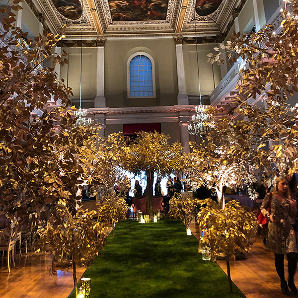Hire gold trees for special events