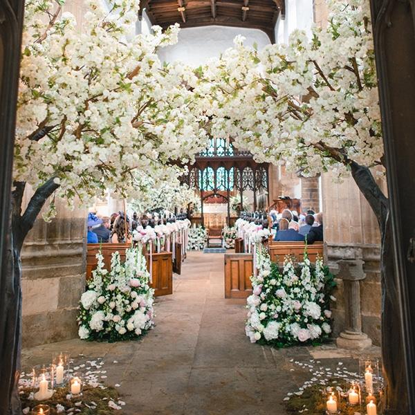Hire wedding trees - white blossom trees