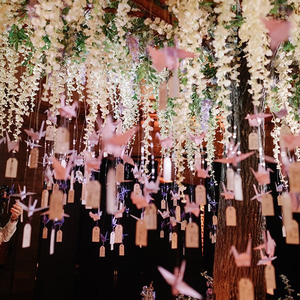 Decorated wisteria tree