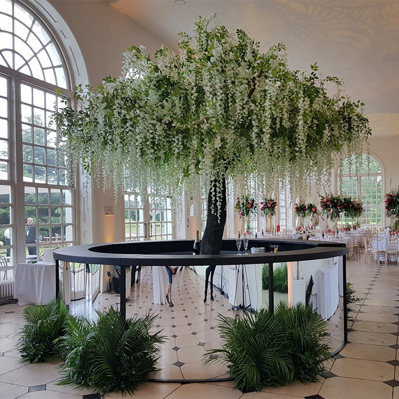 Hire faux wisteria trees for events and weddings