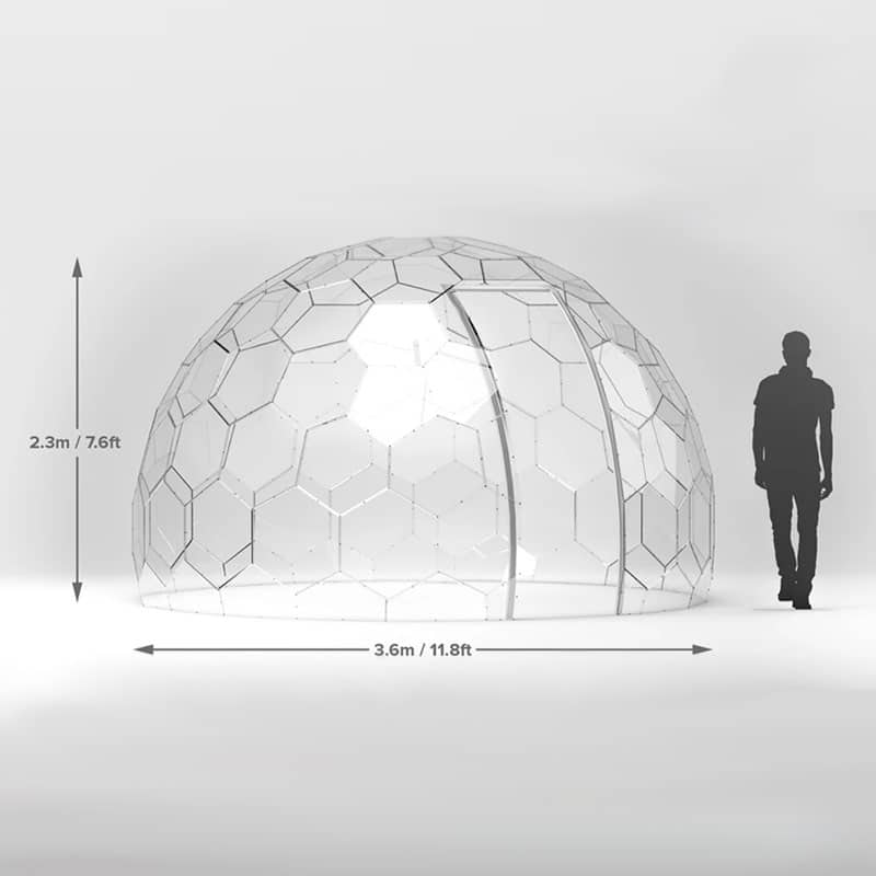 Garden domes dimensions. Twilight Trees offer creative solutions to transforming spaces with biophilic designs. Our garden domes are available to buy and hire. Click to shop glass screens and more.
