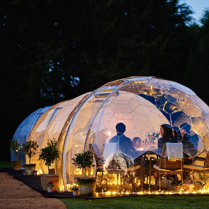 Twilight Trees offer creative solutions to transforming spaces with biophilic designs. Our garden domes are available to buy and hire. Click to shop glass screens and more.
