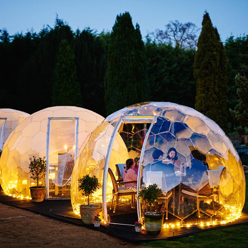 Outdoor dining solutions. Twilight Trees offer creative solutions to transforming spaces with biophilic designs. Our garden domes are available to buy and hire. Click to shop glass screens and more.