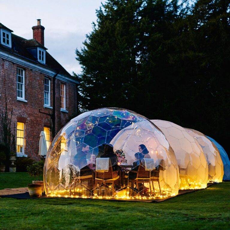 Enjoy the outdoors all year round with one of our garden domes. With accessories to ensure your dome is read to use, click to enquire with Twilight Trees.