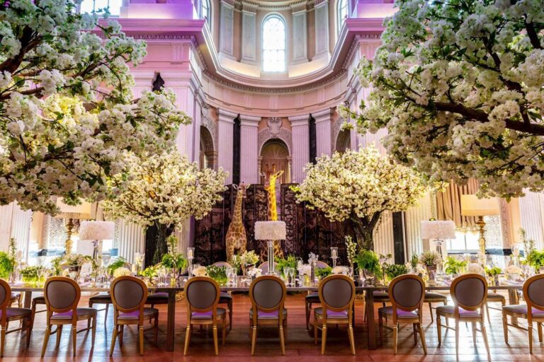Wedding white blossom trees by Twilight Trees