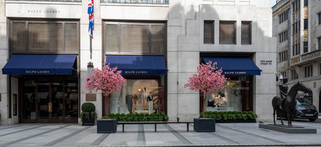 Blossom trees in Bond Street