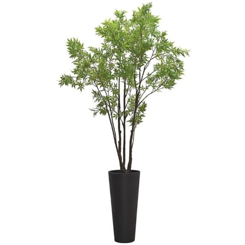 Faux tall green acer